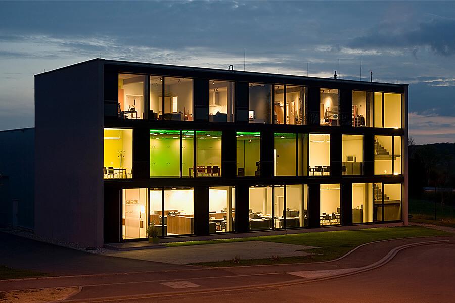 Firmengebäude der Firma SIPEL in Ellange, Luxemburg