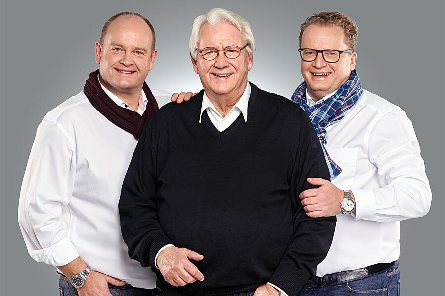 Volker Thiel und seine Söhne Michael und Andreas Thiel